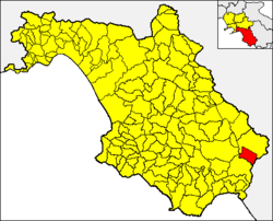 Casalbuono within the Province of Salerno