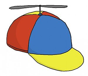 Cap - A propeller hat, also known as a propeller beanie.