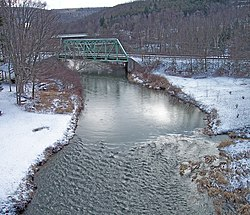 The Casselman River in Casselman River Bridge State Park near Grantsville, Maryland.
