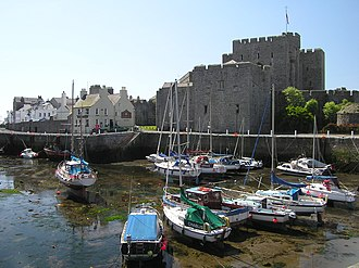 King of Mann - Castle Rushen, Castletown, Isle of Man, the stronghold on the island of the Kings and Lords of Mann