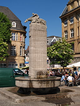 Castrop Rauxel fountain at marketplace