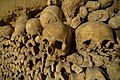 Catacombes de Paris hold the remains of 6 million people (22473192395).jpg