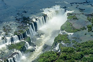waterfalls in Brazil and Argentina