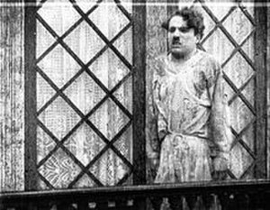 Caught in the Rain - Chaplin in a still from the film