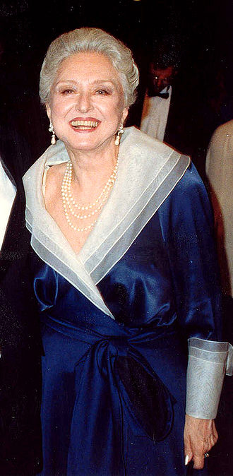 Celeste Holm - Attending the Academy Awards in 1988