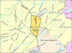 Census Bureau map of Andover, New Jersey.