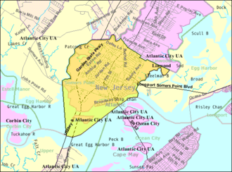 Somers Point, New Jersey - Image: Census Bureau map of Somers Point, New Jersey