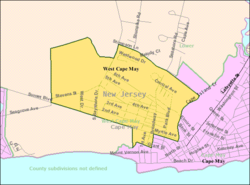Census Bureau map of West Cape May, New Jersey