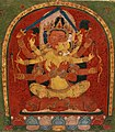 Center detail, from- Interior of a Book Cover- Manjuvajra Embracing His Consort, with Attendant Lamas MET DP335604 (cropped).jpg