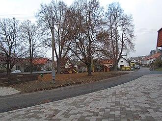 Číhalín - Image: Center of Číhalín, Třebíč District