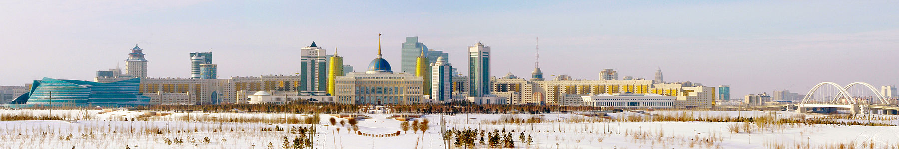 Central Astana on a Sunny, Snowy Day in February 2013.jpg