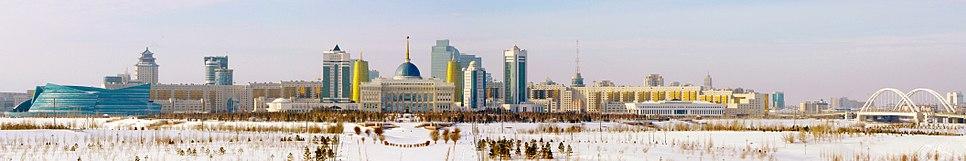 Central Astana on a Sunny, Snowy Day in February 2013.jpg