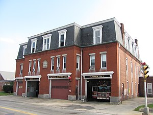Brockton, Massachusetts - Central Fire Station, the quarters of Squad A, Ladder 1, and the Deputy Chief