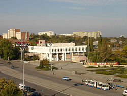 Central street of Tiraspol
