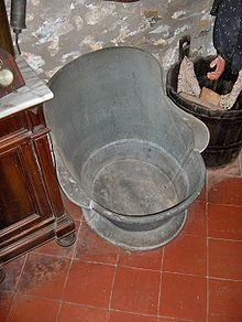 A Tin Hip Bath (19th Century)