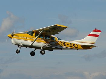 Cessna 210 (OE DSD), rebuilt for cloud seeding...