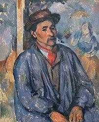 Paul Cézanne: Man in a Blue Smock