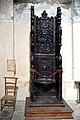 Chaire de l'abbé dans l'église abbatiale Saint-Pierre de Marcilhac-sur-Célé.jpg