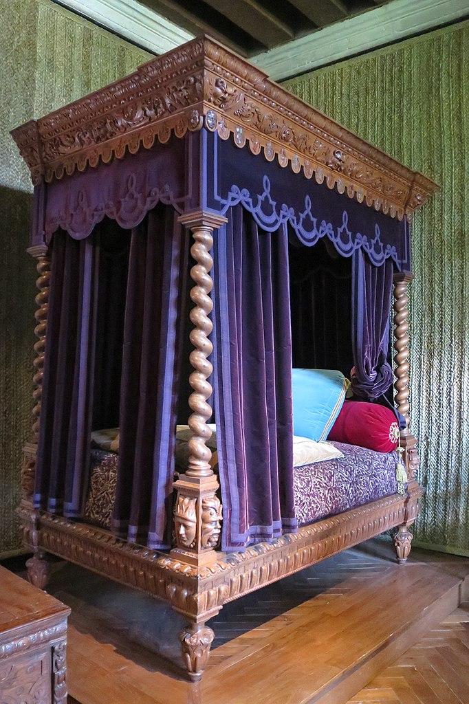 file chambre renaissance du ch teau d 39 azay le rideau lit restitu jpg wikimedia commons. Black Bedroom Furniture Sets. Home Design Ideas