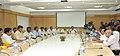 Chandrababu Naidu meeting the Union Minister for Railways, Shri D.V. Sadananda Gowda, in New Delhi on June 26, 2014. The Chairman, Railway Board, Shri Arunendra Kumar is also seen.jpg
