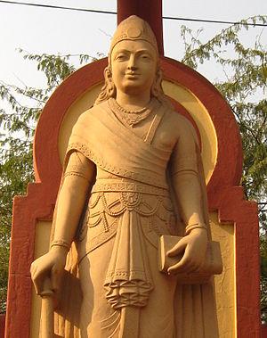 Chandragupta Maurya - A modern statue depicting Chandragupta Maurya, Laxminarayan Temple