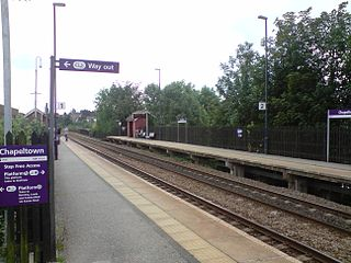 Chapeltown railway station Railway station in South Yorkshire, England