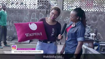 File:Charity talks about Wikipedia.webm