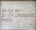 Charles Van Lerberghe gedenkplaat President Rooseveltlaan 101 Gent.png