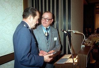 Charles W. Davis - Davis, at right, with General David C. Jones in 1981