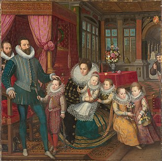 Arenberg family - Count Charles of  Arenberg and Anne de Croÿ with children