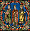 Chartres VITRAIL DE LA VIE DE JÉSUS-CHRIST Motiv 06 Les Mages arrivant devant Hérode.jpg