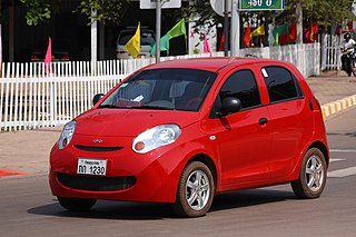 Car manufactured by the Chinese manufacturer Chery