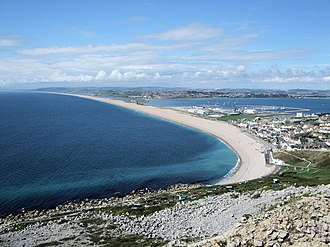 Storm beach - Chesil Beach from the Isle of Portland.