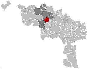 Chièvres - Image: Chièvres Hainaut Belgium Map