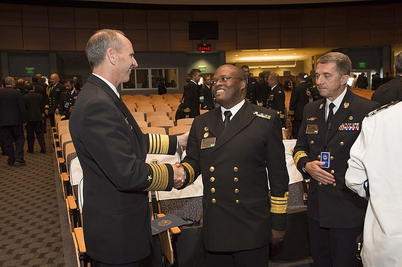 File:Chief of the South African Navy Vice Adm. Samuel Hlongwane says farewell to Chief of Naval Operations (CNO) Adm. Jonathan Greenert.jpg