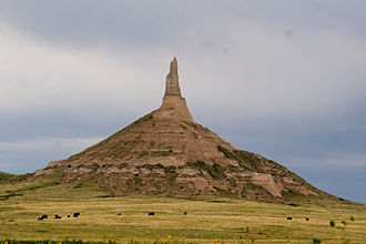 California Trail - Chimney Rock, Nebraska