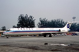 China Northern Airlines MD-82; B-2148, October 1998 BSK (5553202192).jpg