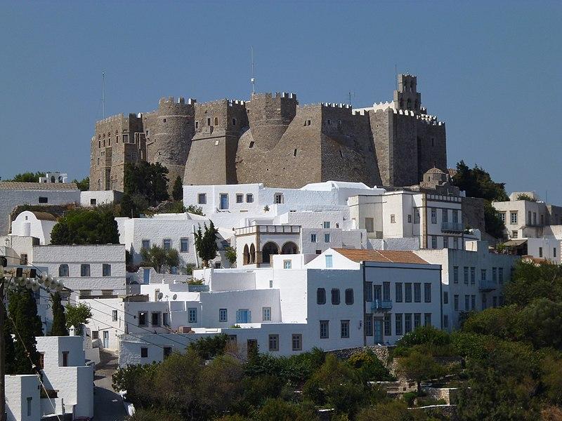 Chora di Patmos con il Monastero di San Giovanni %22il teologo%22.JPG