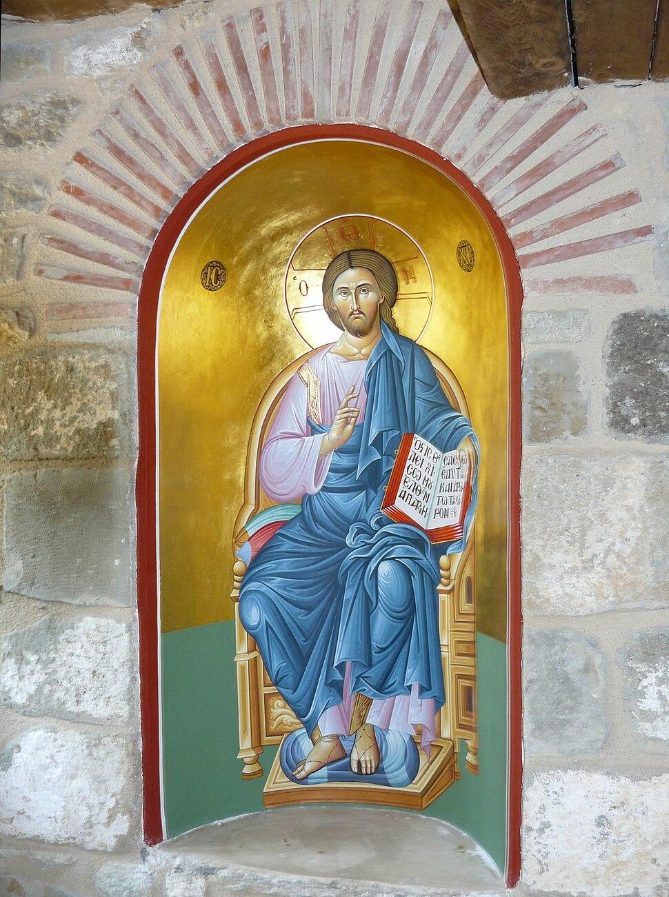 Christ Pantocrator niche Holy Trinity Meteora