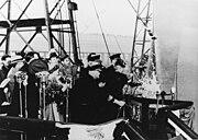 Christening of USS Shangri-La (CV-38) on 24 February 1944