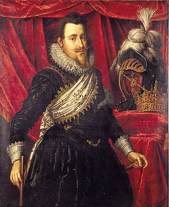 Christian IV of Denmark - Portrait by Pieter Isaacsz, Frederiksborg Castle, Hillerød