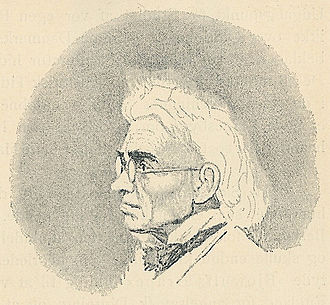 Christian Molbech - Christian Molbech, drawing by J.V. Gertner.