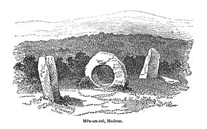 Mên-an-Tol - Drawing by J. T. Blight, 1864