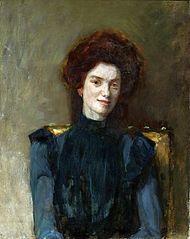 Portret rudej kobiety