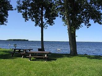 Cicero, New York - Oneida Lake from Williams Park in Cicero.