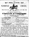 Ciniselli - Nationalcircus, Ankündigung 1851 Brünn.jpg