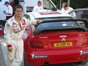 Sébastien Loeb - Loeb during Citroën's testing in Finland in May 2002