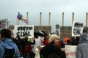 Carbon pricing in Australia - Image: Civil disobedience rally at Hazelwood September 2009