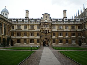 Clare College, Cambridge - Clare College entrance