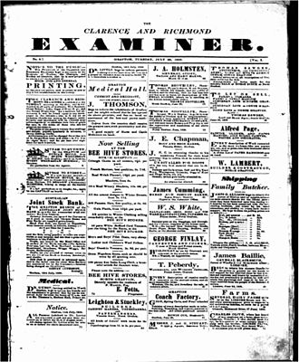 The Daily Examiner - Image: Clarence & Richmond Examiner 26 July 1859